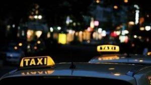 На микроавтобусе с такси Линкор