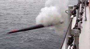В ходе учений в Арктике российский крейсер произвел запуск необычных противолодочных ракетоторпед