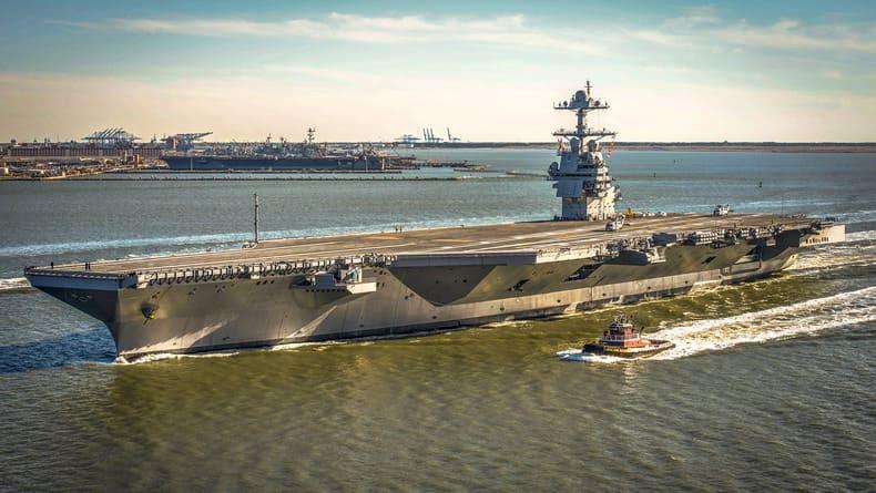 9 из 11 лифтов для боеприпасов нового авианосца USS Ford не работают