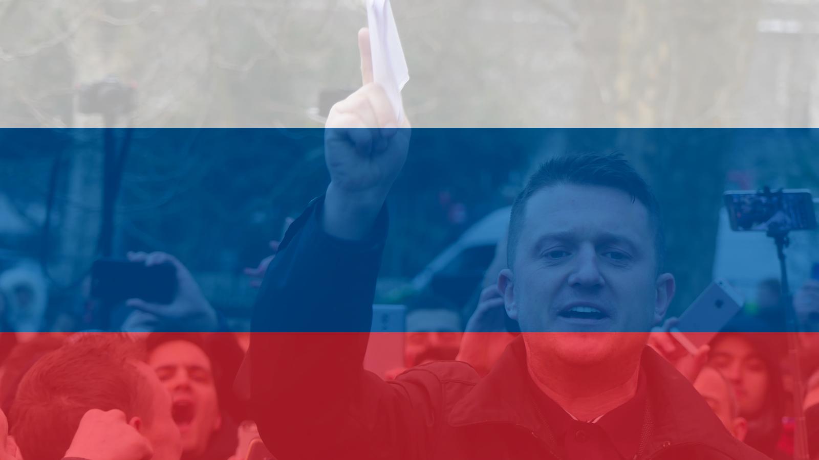 Британский политик-антиисламист Томми Робинсон восхищался Путиным во время своего визита в Россию