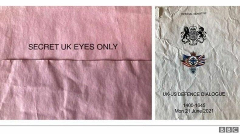 Секретные документы, найденные на автобусной остановке, проливают свет на столкновение ВМФ Великобритании и России